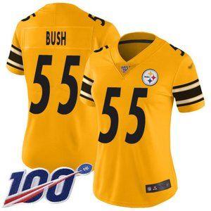 Women Pittsburgh Steelers Devin Bush 100th Jersey